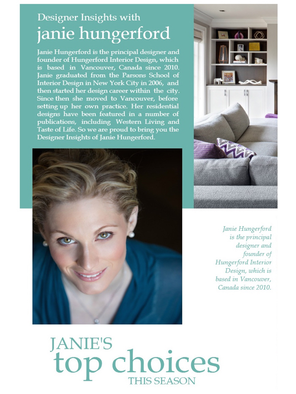 Designer Insights with Janie Hungerford